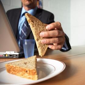 Teacher eating Lunch